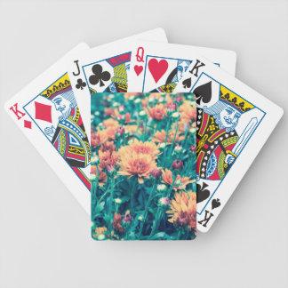 orange Blumenfeld crossprocessorange Bicycle Spielkarten
