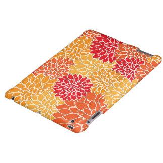 Orange BlumeniPad Kasten iPad Hülle