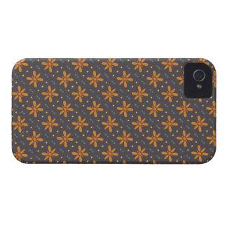 Orange Blumenmuster iPhone 4 Hüllen