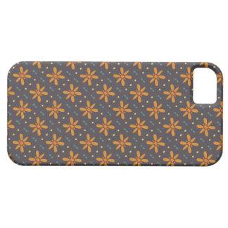 Orange Blumenmuster iPhone 5 Etuis