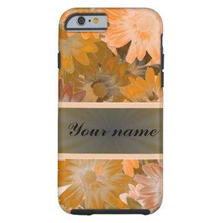 Orange Blumenmuster Tough iPhone 6 Hülle