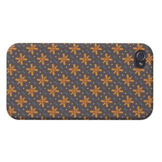 Orange Blumenmuster Schutzhülle Fürs iPhone 4