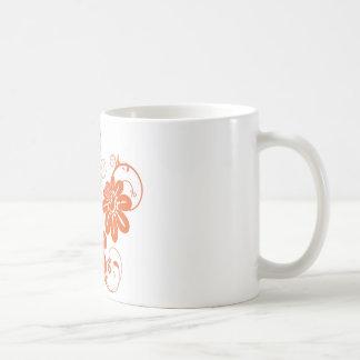 Orange Blüte Tasse