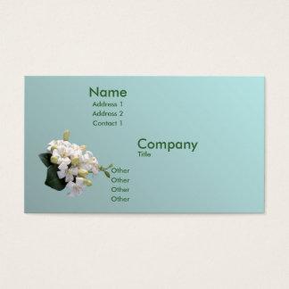 Orange Blüte Visitenkarte