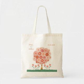 Orange Blüten-Baum-Gastgeschenk Tasche