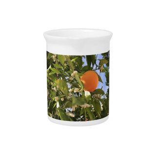 Orange Blüten Krug