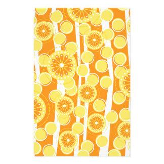 Orange BlüteSpecial Briefpapier