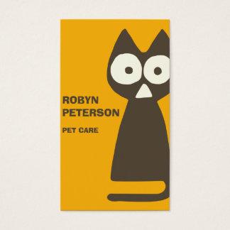 Orange Brown-Dreieck-symbolische Katze Visitenkarte