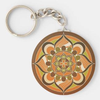 Orange Brown-Grün-Strudel-Entwurfs-Schlüsselkette Schlüsselanhänger