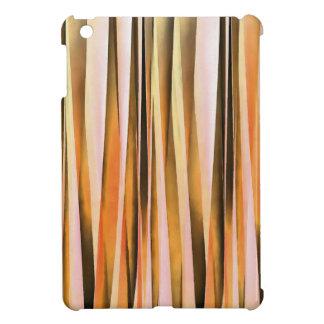 Orange Brown- und Pfirsich-Herbst-Stripy Linien iPad Mini Hülle