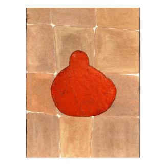 Orange Buddha - besonders angefertigt Postkarte