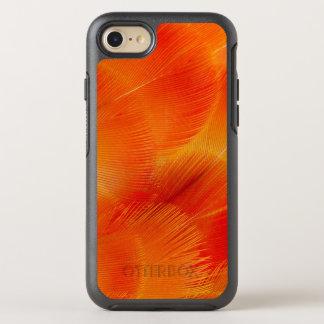Orange Camelot Macaw-Feder abstrakt OtterBox Symmetry iPhone 8/7 Hülle