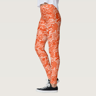 Orange Camouflage-Tarnungs-Muster Leggings