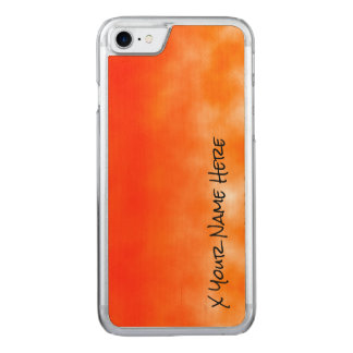 Orange chemischer Glühen-Neonblick 2 Carved iPhone 8/7 Hülle