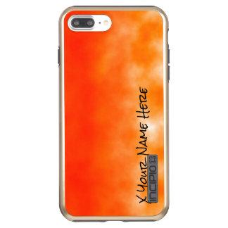 Orange chemischer Glühen-Neonblick 2 Incipio DualPro Shine iPhone 8 Plus/7 Plus Hülle