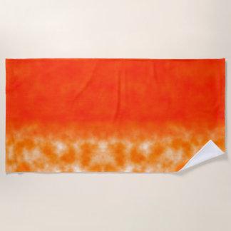 Orange chemisches Neonglühen Strandtuch