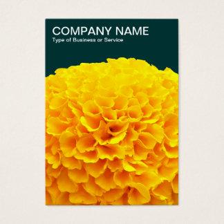Orange Chrysantheme - dunkelgrüne 003333 Visitenkarte