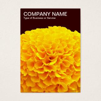 Orange Chrysantheme - dunkles Brown Visitenkarte