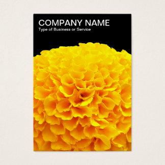 Orange Chrysantheme - Schwarzes Visitenkarte