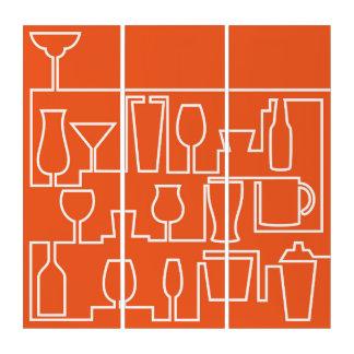 Orange Cocktail-Party Triptychon