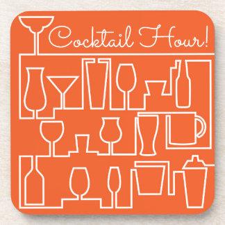 Orange Cocktail-Party Untersetzer