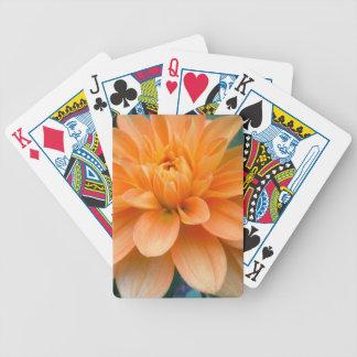 Orange Dahlie Bicycle Spielkarten