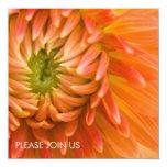 Orange Dahlie DSC4447 Quadratische 13,3 Cm Einladungskarte