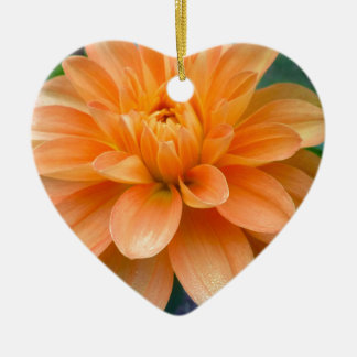 Orange Dahlie Keramik Ornament