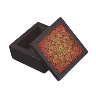 Orange dekoratives Spitze-Muster Kiste
