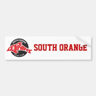 Orange Delphin-SüdAutoaufkleber Autoaufkleber