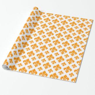 Orange der Lilien-2 Einpackpapier