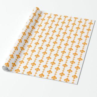 Orange der Lilien-3 Geschenkpapier
