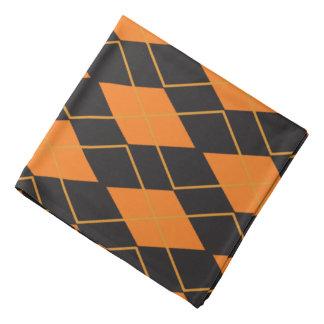 Orange der Raute geometrisches und schwarzes Kopftuch