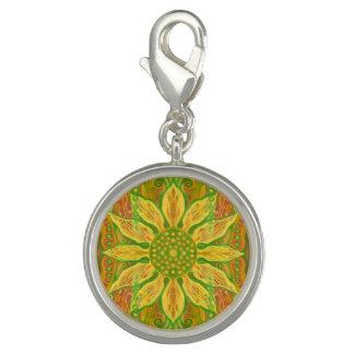 Orange des gelben Grüns der Sun-Blumenböhmische Charm