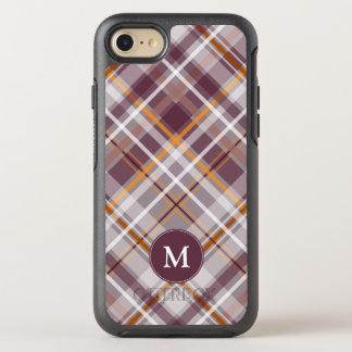 orange diagonales kariertes mit Monogramm der OtterBox Symmetry iPhone 8/7 Hülle
