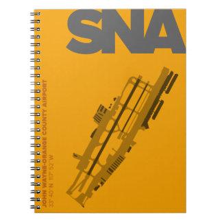 Orange Diagramm-Notizbuch des Spiral Notizblock
