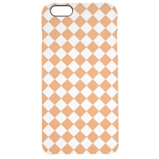 Orange Diamant-Schachbretpastellmuster Durchsichtige iPhone 6 Plus Hülle