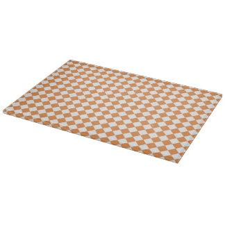 Orange Diamant-Schachbretpastellmuster Schneidebrett