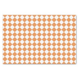 Orange Diamant-Schachbretpastellmuster Seidenpapier