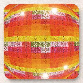 Orange Disco-Ball-Muster Getränkeuntersetzer