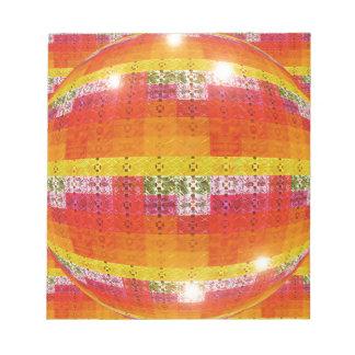 Orange Disco-Ball-Muster Notizblock