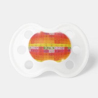 Orange Disco-Ball-Muster Schnuller
