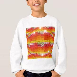 Orange Disco-Ball-Muster Sweatshirt