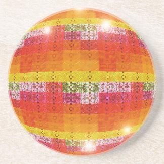Orange Disco-Ball-Muster Untersetzer