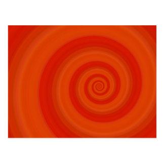 Orange Drehung Postkarte