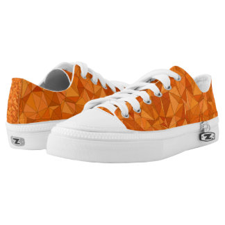 Orange Dreieck Zipz niedrige Spitze beschuht Niedrig-geschnittene Sneaker