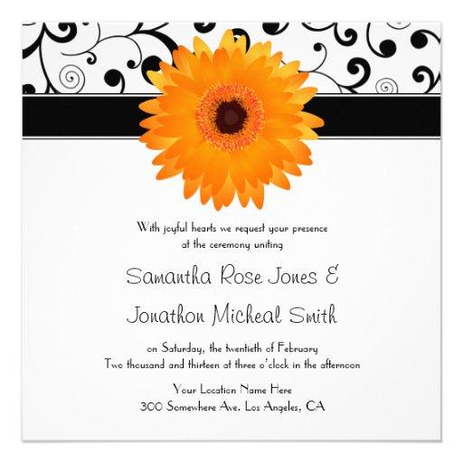 Orange Einladungen