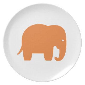 orange Elefant Teller