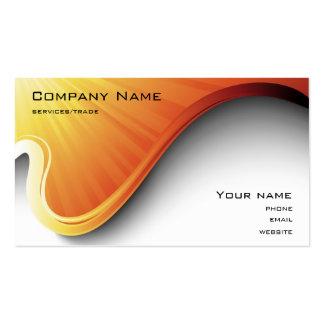 orange Entwurfs-Visitenkarte