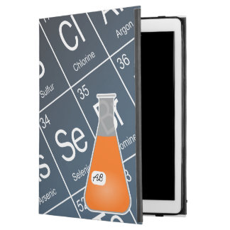 Orange Erlenmeyer-Kolben (mit Initialen) Chemie
